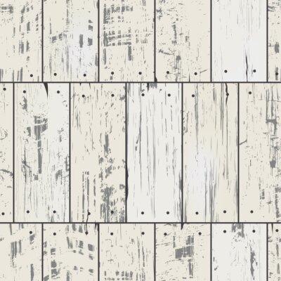 Fototapet Träimitation plankor med spik. Vector seamless retro mönster