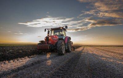 Fototapet traktor plöjning