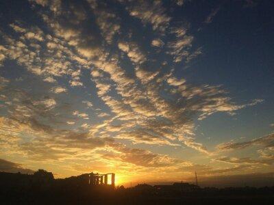 Fototapet tramonto nuvole