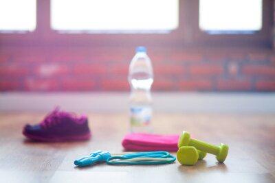 Fototapet träningsredskap