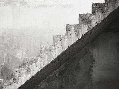 Fototapet Trappor Arkitektur detaljer bygger Svartvitt