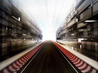 Fototapet travet i glas bussiness stadsbakgrund