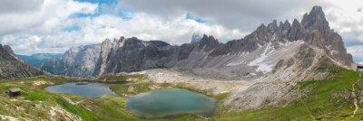 Fototapet Trekking i Tre Cime National Park, Dolomiterna