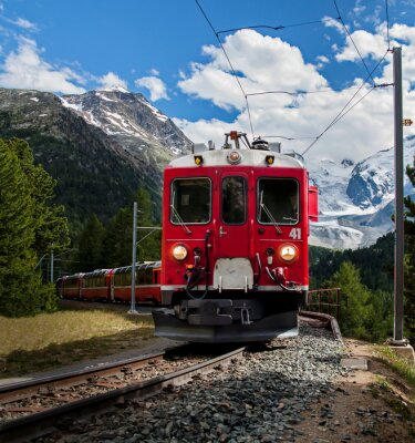 Fototapet trenino Rosso del Bernna