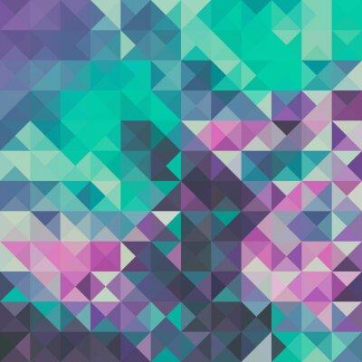 Fototapet Triangel bakgrund, grönt och violett
