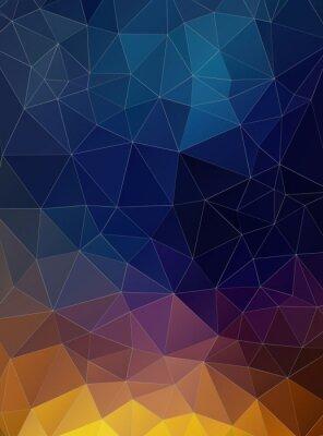 Fototapet Triangel platt geometrisk färgrik bakgrund