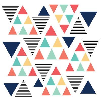 Fototapet Triangelmönster färgvariation