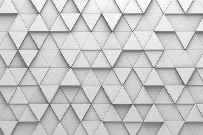 Fototapet Triangulära plattor 3D mönster vägg