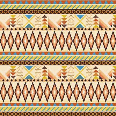 Fototapet Tribal etnisk seamless randigt mönster. rutor ingår.