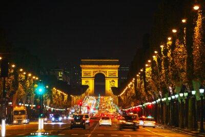 Fototapet Triumfbågen de l'Etoile i Paris