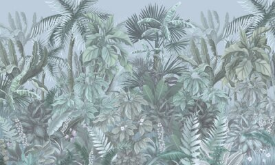 Fototapet Tropical forest, jungle, blue