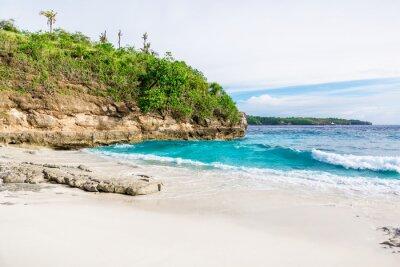 Fototapet Tropisk vit sandstrand