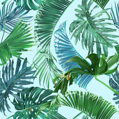 Fototapet Tropiska bladmönster