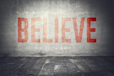 Fototapet Tror meddelande på väggen