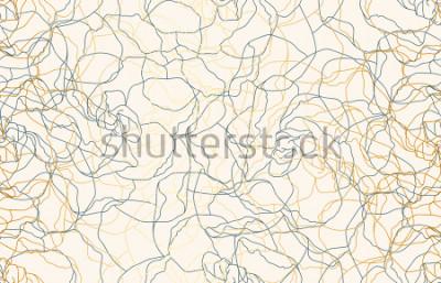 Fototapet Tryckbar sömlös vintage klotter repeter mönster bakgrund. Bakgrund, raster illustration i super Hög upplösning.