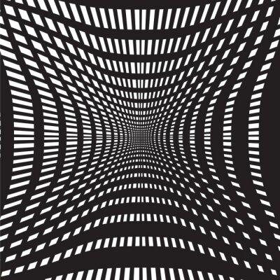 Fototapet tunnel svartvita abstrakt bakgrund