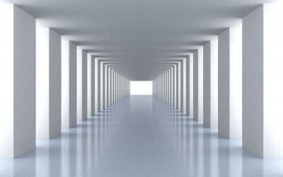 Fototapet Tunnel vitt ljus