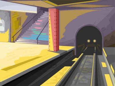 Fototapet tunnelbana Scene