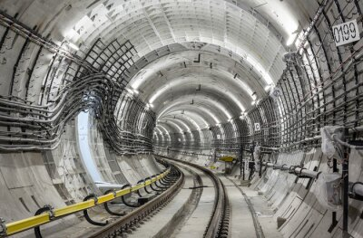 Fototapet Tunnelbanan tunnel