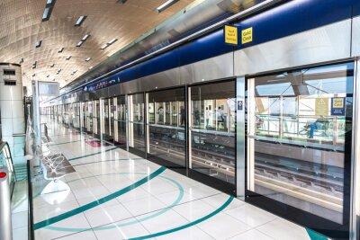 Fototapet Tunnelbanestation i Dubai