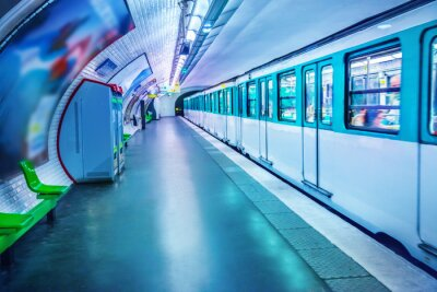 Fototapet Tunnelbanestation i Paris