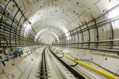 Fototapet tunnelbanetunnel