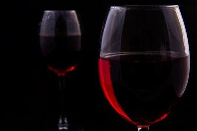 Fototapet Två glas rödvin