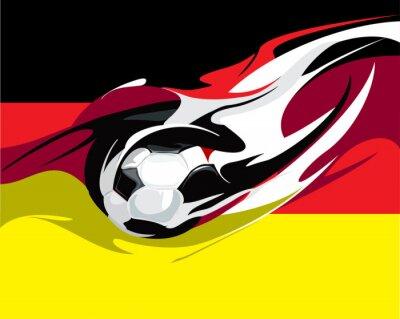 Fototapet Tysk fotboll