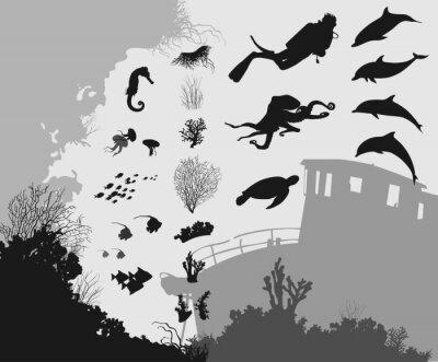 Fototapet under vattnet