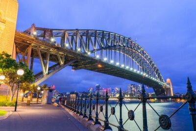 Fototapet Underbar natt skyline Sydney, Australien