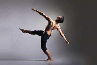 Fototapet Unga och elegant modern balettdansös