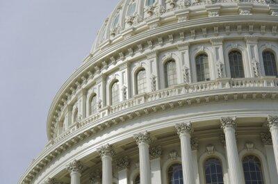 Fototapet US Capitol kupol detalj