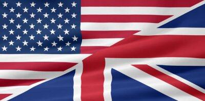 Fototapet USA - Storbritannien - Flagge
