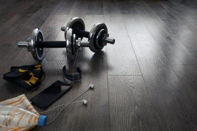 Fototapet utrustning för fitness