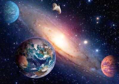 Fototapet Utrymme planet galax Vintergatan Earth Mars universum astronomi solsystem astrologi. Delar av denna bild som tillhandahålls av NASA.