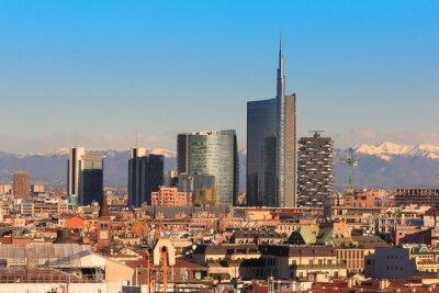 Fototapet Utsikt över Milano, Italien
