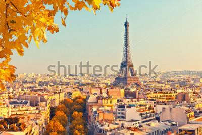 Fototapet Utsikt på Eiffeltornet vid solnedgången, Paris, Frankrike