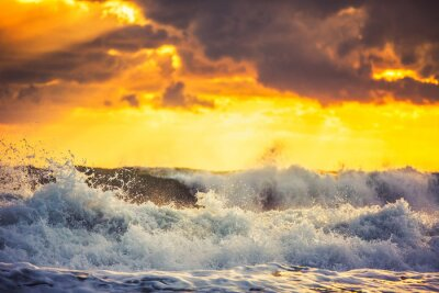 Fototapet Vacker clouds över havet
