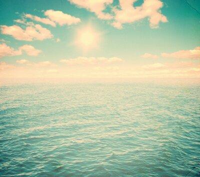 Fototapet Vacker himmel och blått hav