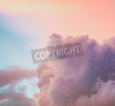 Fototapet Vacker molnig himmel bakgrund