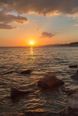 Fototapet vacker solnedgång i södra