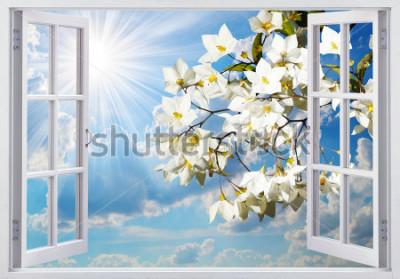 Fototapet Vacker utsikt från fönstret