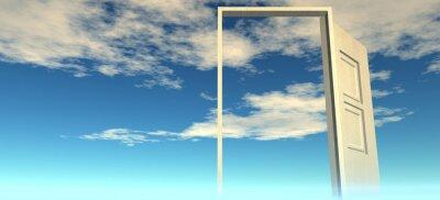 Fototapet Vacker utsikt över himlen. Dörrar till himlen.