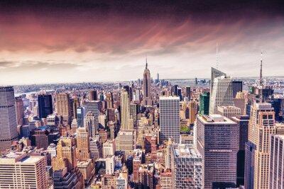 Fototapet Vacker utsikt över New Yorks skyline
