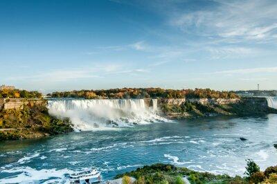 Fototapet vacker utsikt över Niagara Falls i höst