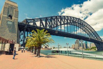 Fototapet Vacker utsikt över Sydney Harbour Bridge