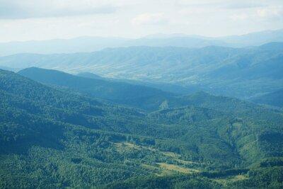 Fototapet Vackra bergstoppar