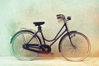 Fototapet vackra gamla rostig cykel retro med enorma effektfärger på