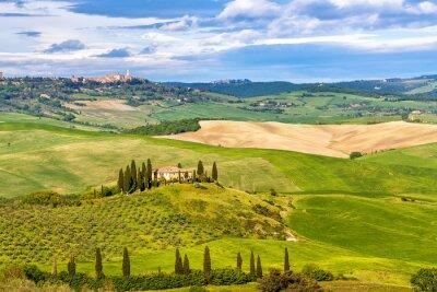 Fototapet Vackra landskapet i Toscana, Italien