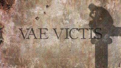 Fototapet Vae Victis. Latin formulerar för Ve de besegrade